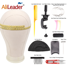 Alileader 21/22/23/24/25inch Weiß Block Leinwand Gliederpuppe Kopf Perücken Mannequin Kopf Anzeige, der Styling Modell Puppe Kopf
