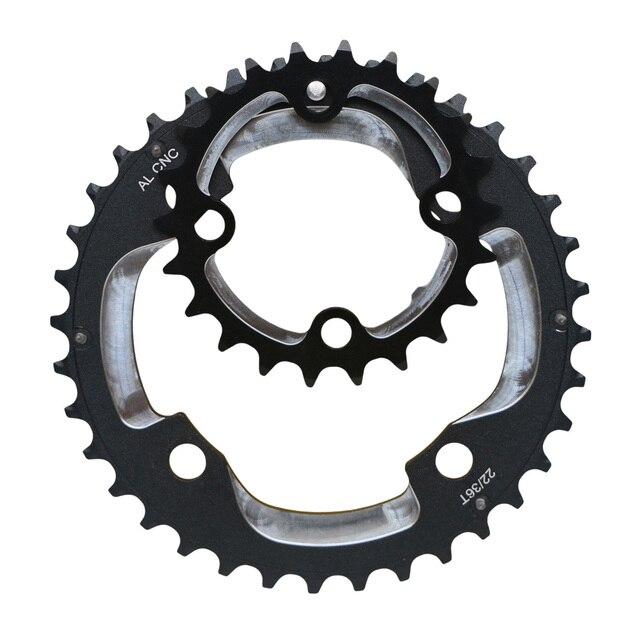 6061 alu 22 t 64bcd chainset chainring roda dentada 36 t 104bcd roda de corrente para 9 s 10 s mtb mountain bike manivela conjunto