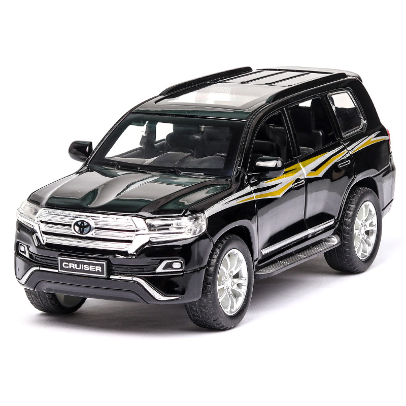 1:32 Toy Car LAND CRUISER Prado Metal Toy Alloy Car Diecasts Toy Vehicles Model 6 Doors Can Opened Toys For Children Toy Cars