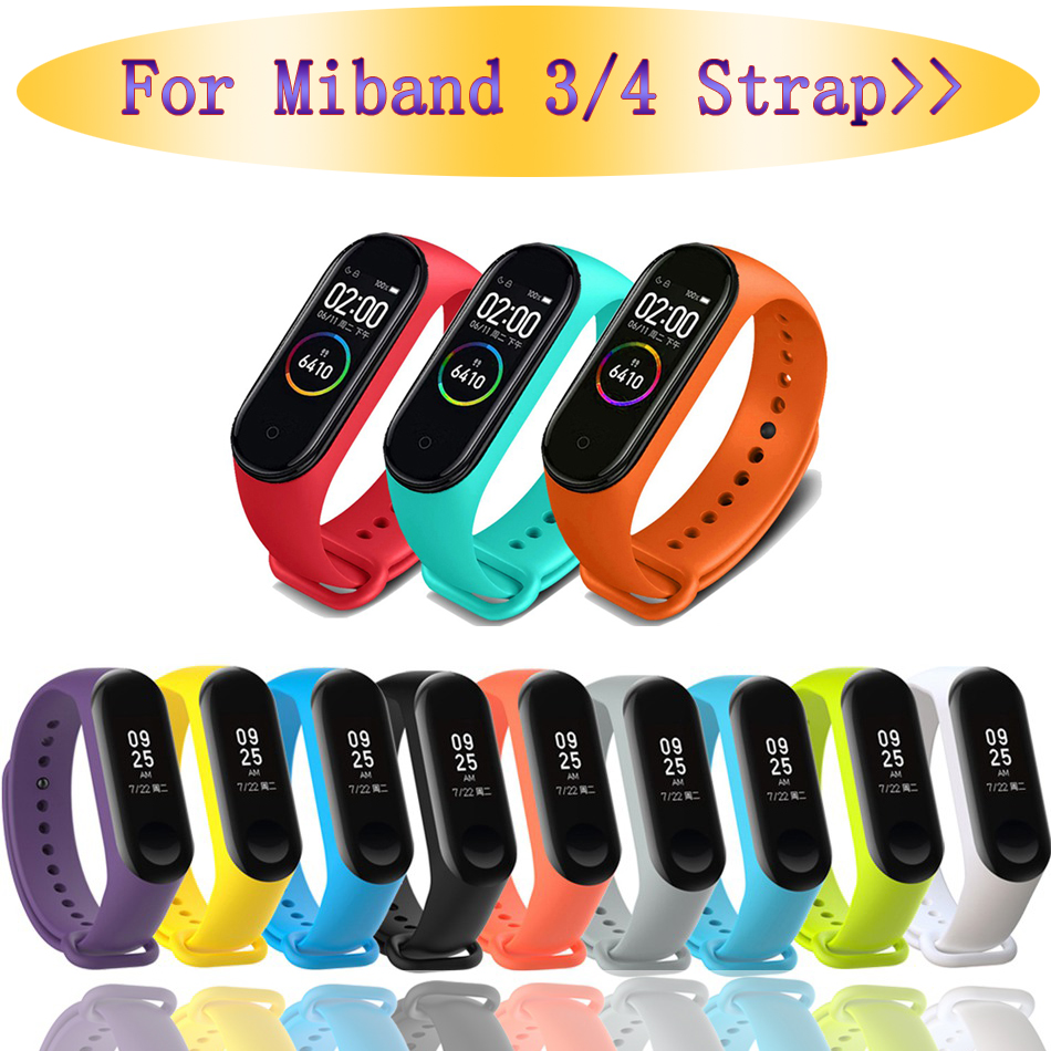 Sport For Mi Band 3 4 Strap Wrist Strap For Xiaomi Mi Band 3 Sport Silicone Bracelet For Mi Band 4  Band3 Smart Watch Bracelet