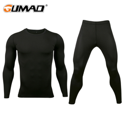 Base Layer Breathable Underwear Compression Pants Shirt Sets Cycling Clothes Stretch Tights Long Johns Sportswear Fitness Men