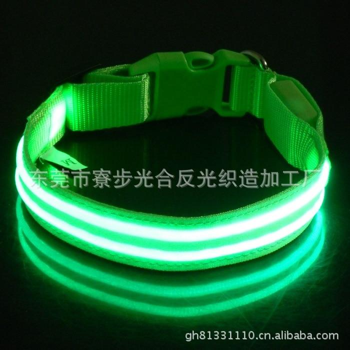 Straight Pet Supplies Flash Dual Fiber LED Luminous Dog Collar Collar
