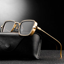 Fashion Steampunk Sunglasses Brand Design Men Women Vintage Square Metal Punk Sun glasses UV400 Shades Eyewear