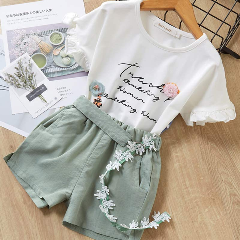 Hba2bb4206b5040c2a1859d2666779ff2A Melario Kids Girls Clothing Sets Summer Baby Girls Clothes T-Shirt and Jeans Shorts Suit 2Pcs Children Clothes Suits