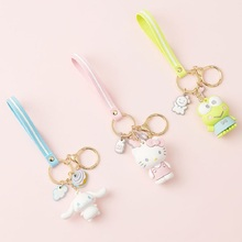 New Cartoon Cute Keychain Hello Kitty KT Cat Key Chain Men and Women Charm Bag Pendant Accessories Ring