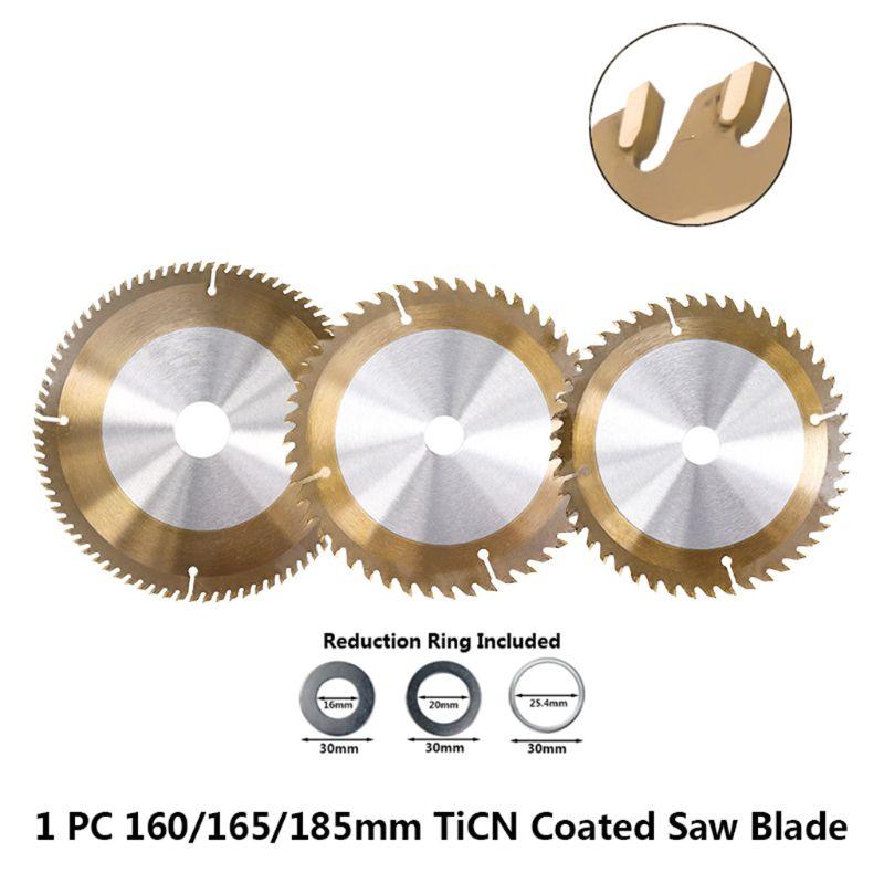 160/165/185mm Wood TiCN Coated Circular Saw Blade 24/40/48/80T Cutting Disc 95AA
