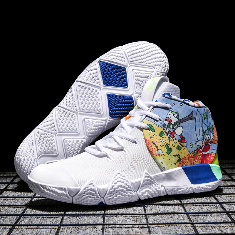 2019 Kyrie Irving Mens Basketball Shoes Athletic Sport Sneakers High-Cut Breathable Footwear Outdoor Air Cushion Shoes image