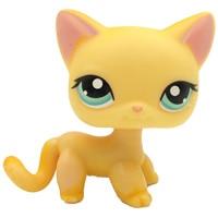 Лпс стоячки кошки Игрушки для кошек lps, редкие подставки, маленькие короткие волосы, котенок, розовый#2291, серый#5, черный#994,, коллекция фигурок для питомцев - Цвет: 339