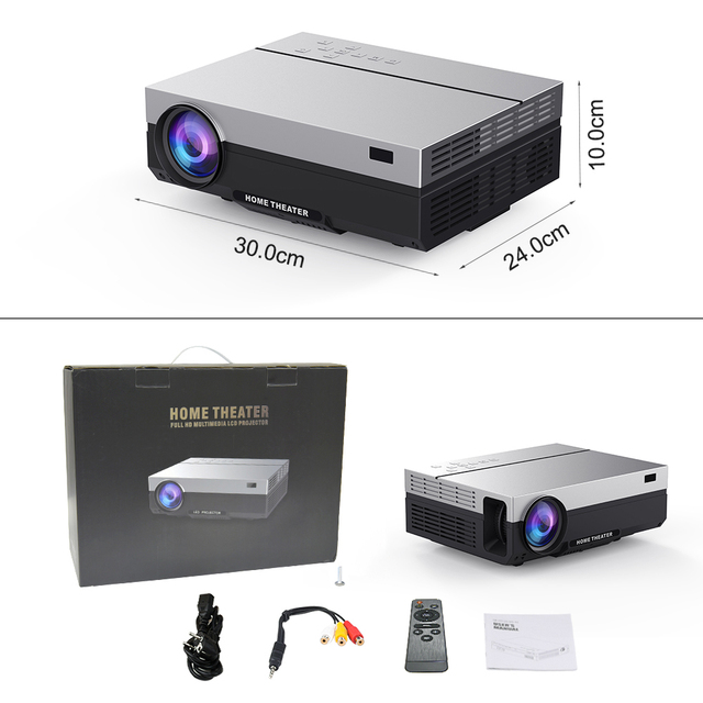 Touyinger T26L T26K 1080p LED full HD Projector Video beamer 5500 Lumen FHD 3D Home cinema HDMI ( Android 9.0 wifi AC3 optional) 5
