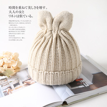 все цены на Cute Rabbit Ears Winter Beanies Hats For Women Knitted Hat For Girls Cotton Warm Hat Caps Fur Casual Gorros solid color онлайн