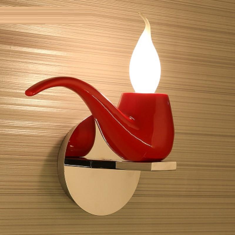 Красный/белый/черный Современный Креативный трубный настенный светильник для гостиной спальни настенный прикроватный бра декоративный на