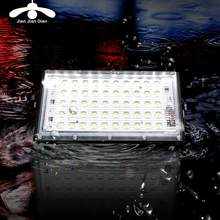 LED Flood Light 50 Watt AC 220V 240V Lampu Outdoor LED Reflektor Lampu Sorot IP65 Tahan Air Taman lampu Persegi(China)