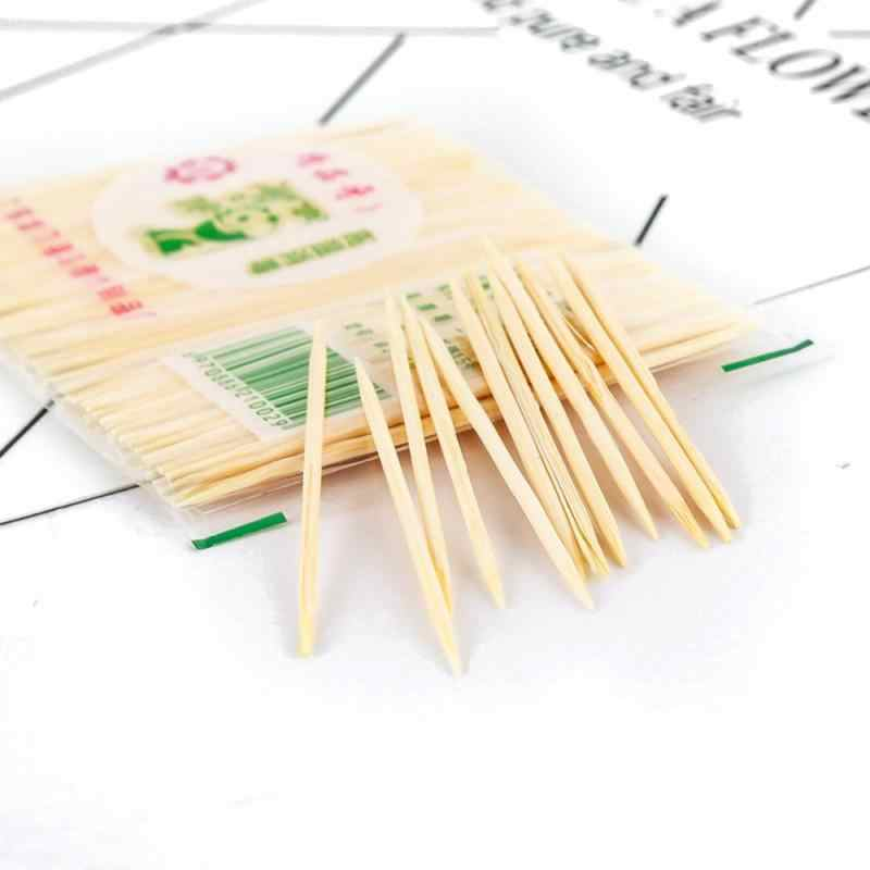 1bag Disposable Toothpicks Wood Dental Natural Bamboo Toothpick For Home Restaurant Hotel Products Toothpicks Tools