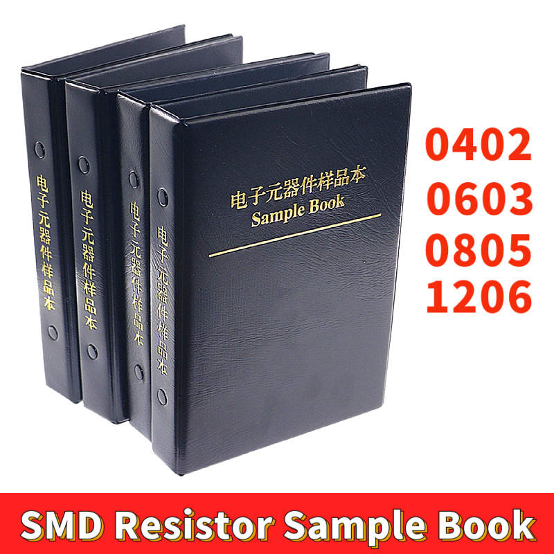 0402 0603 0805 1206 1% smd chip resistor variedade kit 170 valores amostra livro