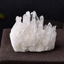 Quartz brut naturel blanc, cristal clair, amas de pierres de guérison, pointe de cristal, spécimen de décoration de la maison, cristaux minéraux, 1 pièce