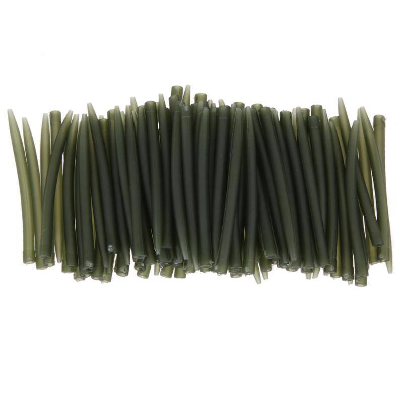 20/50/100pcs Terminal Carp Fishing Rubber Anti Tangle Sleeves Connect With Fishing Hook Pesca Carp Fishing Accessories Tackle