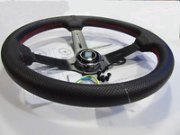 14inch 350mm Modified steering wheel leather steering wheel automobile race steering wheel Aluminum shelf