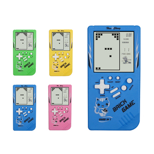 Childhood Retro Classic Tetris Handheld Game Player 2.7'' LCD Electronic GameToys Pocket Game Console Riddle Educational Toy