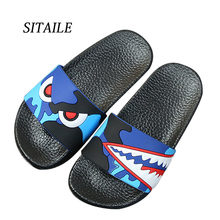 Buy SITAILE Shark Slippers for Boy Girl Shoes Summer Toddler Animal Kids Indoor Baby Slippers PVC Cartoon Kids Slippers directly from merchant!