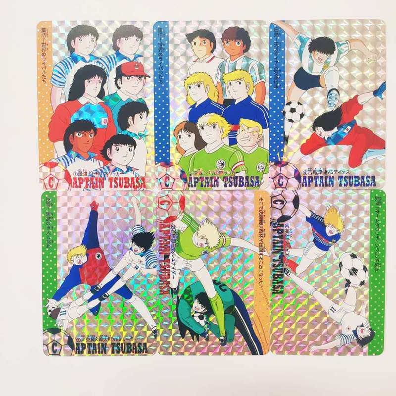 9pcs/set Soccer Captain Tsubasa Ozora Tsubasa World Youth Toys Hobbies Hobby Collectibles Game Collection Cards Free Shipping