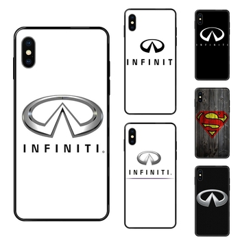 Luxury Car Infiniti Logo Tpu Black Soft Shell Phone Case For Apple iPhone 11 12 Pro X XR XS MAX 5 5S 5C SE 6 6S 7 8 Plus Les image