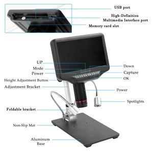 Image 4 - Andonstar AD407 عالية الوضوح الرقمية ميكروسكوب بيولوجي كاميرا 270X 1080P USB مجهر ستيريو الإلكترونية لحام