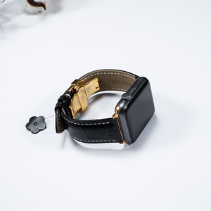 Image 2 - עור רצועת עבור אפל שעון 5 4 להקת 44mm 40mm פרפר אבזם iwatch 3 2 רצועת 42mm 38mm אפל שעון להקות צמיד