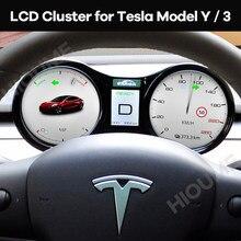 Car LCD Instrument Cluster Retrofit Multimedia Digital Dashboard for Tesla Model 3 / Model Y Head-up Display Panel Gauges