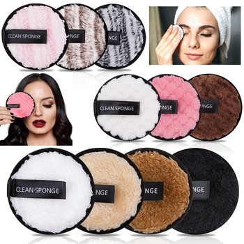 YBLNTEK 3/4PCS Reusable Cotton Makeup Remover Microfiber Makeup Remover Pads Reusable Cotton Pads Makeup Cleaning Wipe Towel icosow 400 pcs make up cotton pads wipe pads nail art polish cleaning pads facial cosmetic cotton makeup remover clean tool