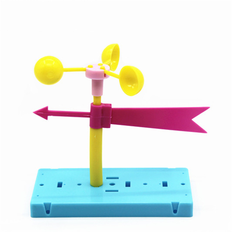 Newest Physics Experiment Equipment Homemade Wind Vane DIY Materials Home School Educational Kits Kids Students Gifts