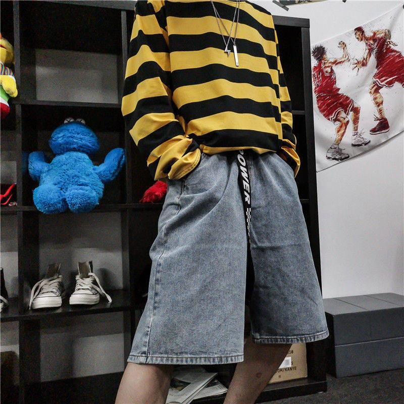 2020 Spring Summer New Style PANTS MEN Jeans Shorts Multi-pockets Casual Fashion Elasticity Slim Fit Fashion Man Short S