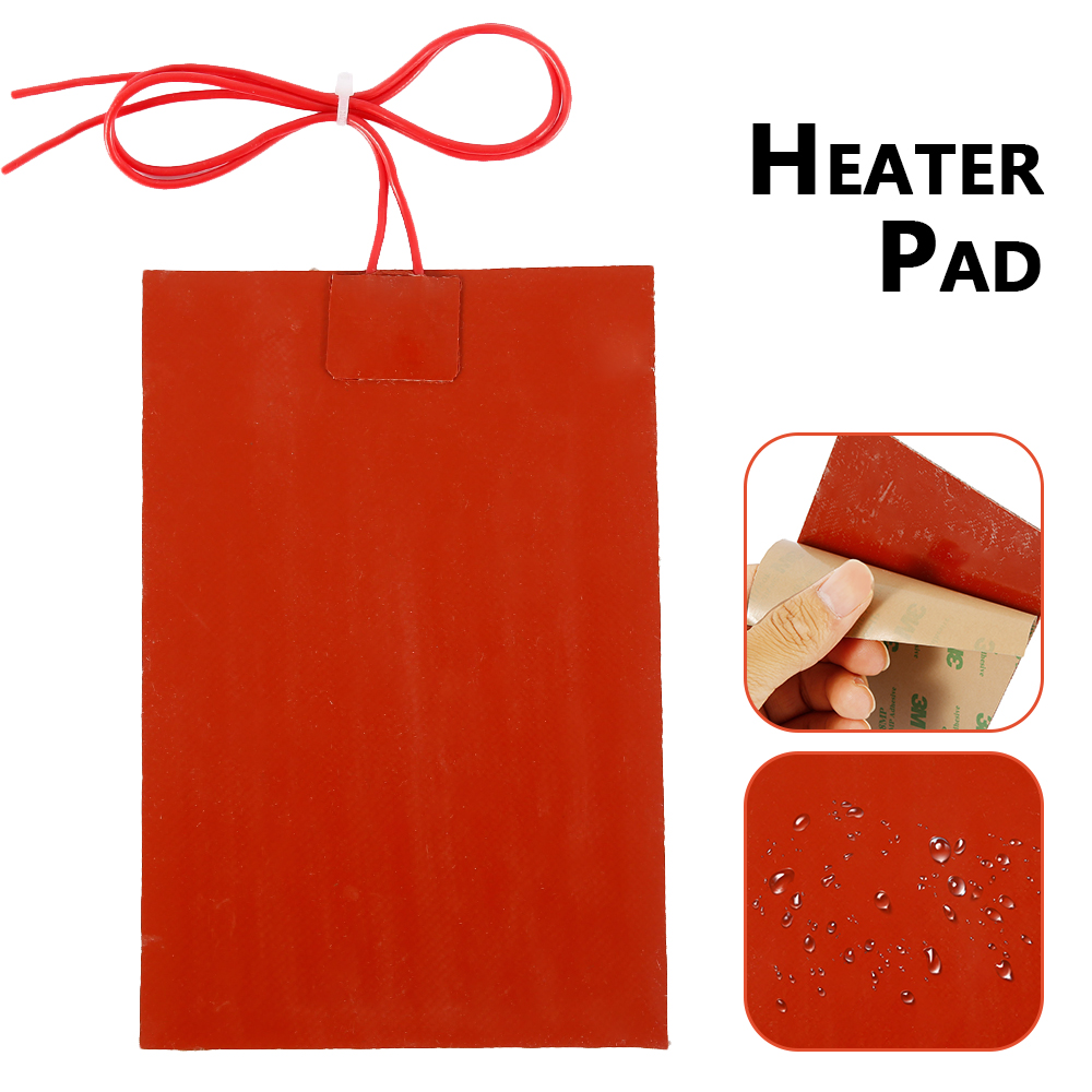 60W 220V Engine Oil Tank Silicone Heater Pad Universal Fuel Tank Water Tank Rubber Heating Mat Warming Accessories 10 X 15cm