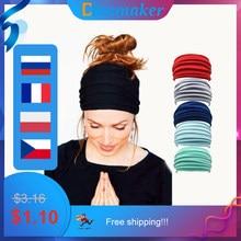 1 PC Solid Color Fold Yoga Headband Nonslip Elastic Stretch Hairband Turban Running Headwrap Wide Sports Accessories
