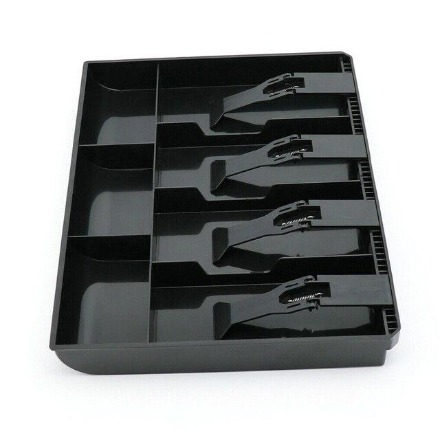 Boîte de 4 grilles | Caisse, tiroir de monnaie, plateau de caisse, hôtel magasin de rangement avec Clip de supermarché, ABS classificateur organisateur 1