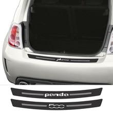 Pegatina protectora de fibra de carbono para maletero de coche, accesorio para Fiat ARGO PUNTO PANDA 500