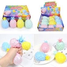 Ananas przyklejana na ścianę piłka Stress Relief piłki sufitowe Squash Ball Globbles dekompresja zabawka przyklejony cel piłka fajna zabawka na prezent