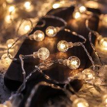 Led String Lights Fairy Gypsophila Bubble Ball Lamp Holiday Lighting Garland Battery USB Indoor For Christmas Wedding Decoration cheap lighting ranger CN(Origin) ROHS 1 year Valentie s Day Plastic LED Bulbs None 150cm 1-5m White MULTI Warm White 20-50 head