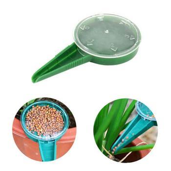 Roślina ogrodowa dostarcza tworzywa sztuczne narzędzia ogrodnicze siewnik Seed Sower sadzarka artykuły ogrodowe ręczny kwiat roślina siewnik tanie i dobre opinie Z tworzywa sztucznego Green and transparent plastics 12*6cm