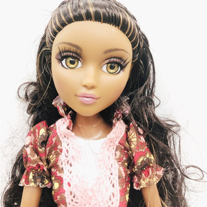 Image 4 - new 36cm Original Girls MGAdoll 3D big Violet brown eyed girl Princess Dolls 11 joints Princess doll toy Dol Christmas Gift
