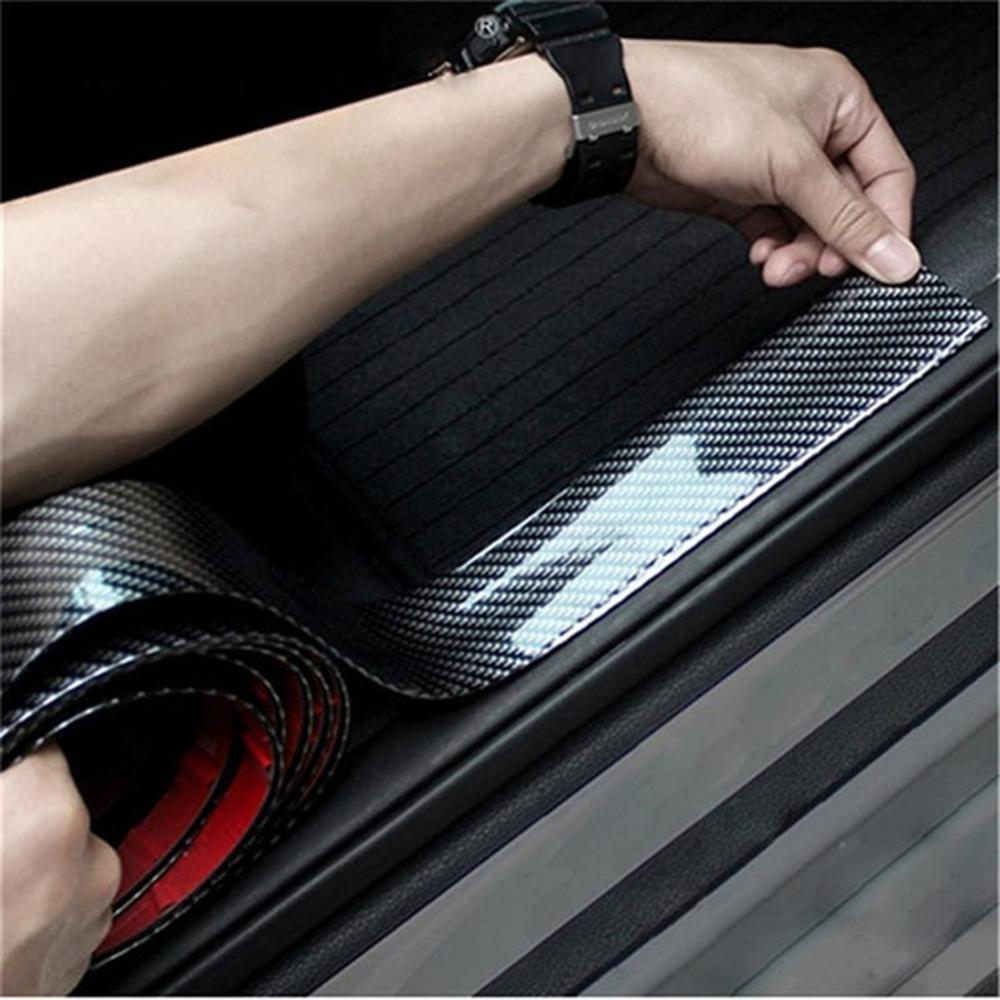 Купить high quality carbon fiber car door sill plate bumper guard protector