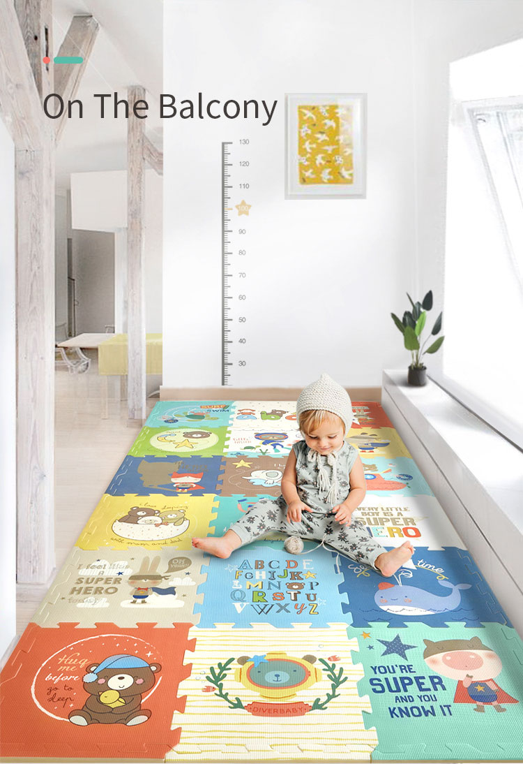 Hba2e28774a564e45867de610dc24e56cX BabyGo PE Foam Play Mat Baby Thickened Tasteless Crawling Pad Children Kids Living Room Cartoon Non-Slip Play Game Floor Mat