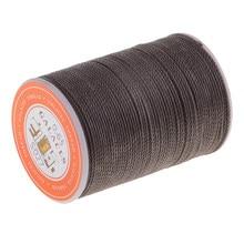 Прочная полиэфирная кожа швейная вощеная нить для ремонта обуви одежды 0,65 мм