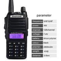 baofeng uv חם מכשיר הקשר Baofeng UV-82 Dual-Band 136-174 / 400-520 MHz FM צריכת חשמל גבוהה 8 וואט סוללה 2800mAh Waterproof רדיו חובבים שני הדרך (2)