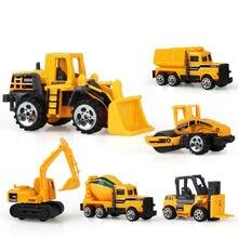 Mini liga diecast carro modelo de engenharia veículos de brinquedo caminhão basculante empilhadeira escavadeira modelo de carro mini presente para crianças meninos modelo de carro