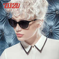 20/20 Brand Design Vintage Polarized Cat Eye Sunglasses Women Gradient Lens Sun Glasses Shades Female Eyeglasses Oculos PL356