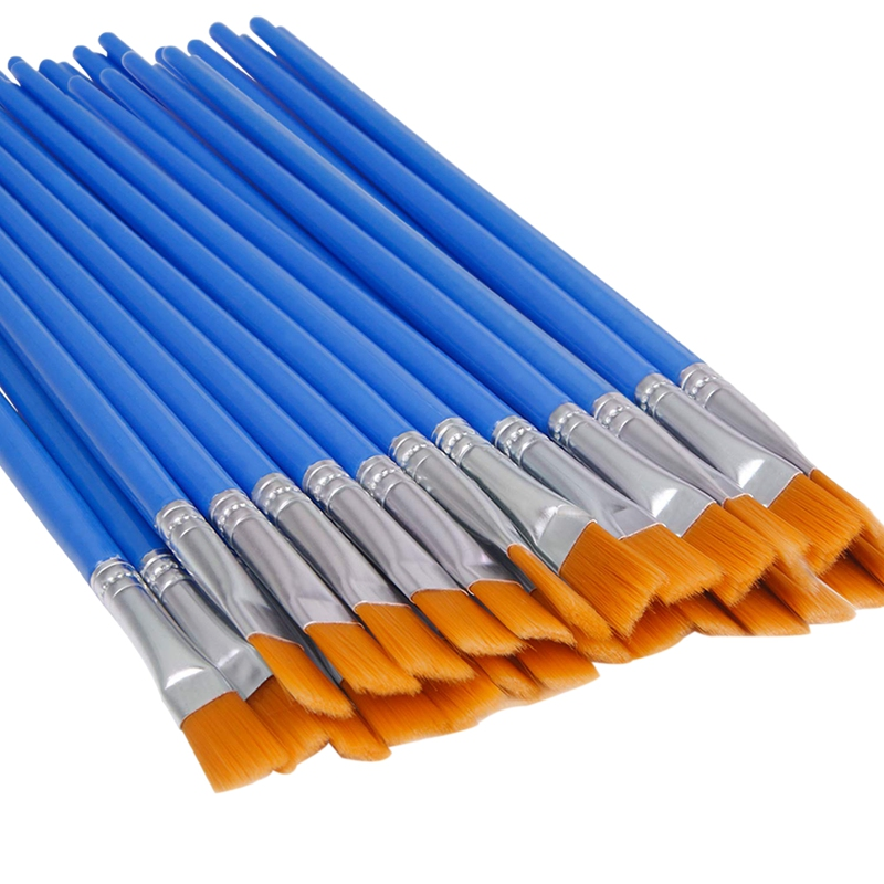 200 Pcs Flat Paint Brushes Small Brush Bulk For Detail Painting Craft Watercolor