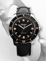 Hruodland-reloj mecánico automático para hombre, de cristal de zafiro inoxidable C3, luminoso, resistente al agua hasta 20ATM, para buceo deportivo