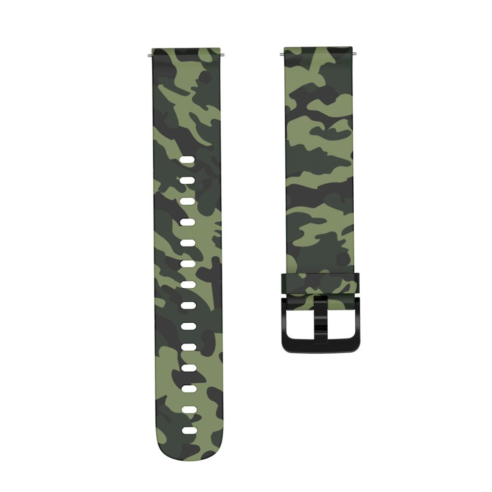 For Xiaomi Amazfit GTR 42mm Bracelet Watchband Camouflage Silicone Watchstrap 20mm Width