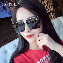 JASPEER Square Sunglasses Women Oversized Mirror Men Shades Glasses Luxury Brand Metal Trend Unique Male Eyewear очки женские очки капли женские фото