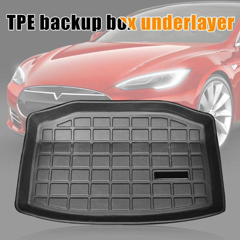 TPE Trunk Mat Anti-dust Boot Cargo Liner Protection For Tesla Model 3 2017-2019 Excellent Processing Performance Soft Safe